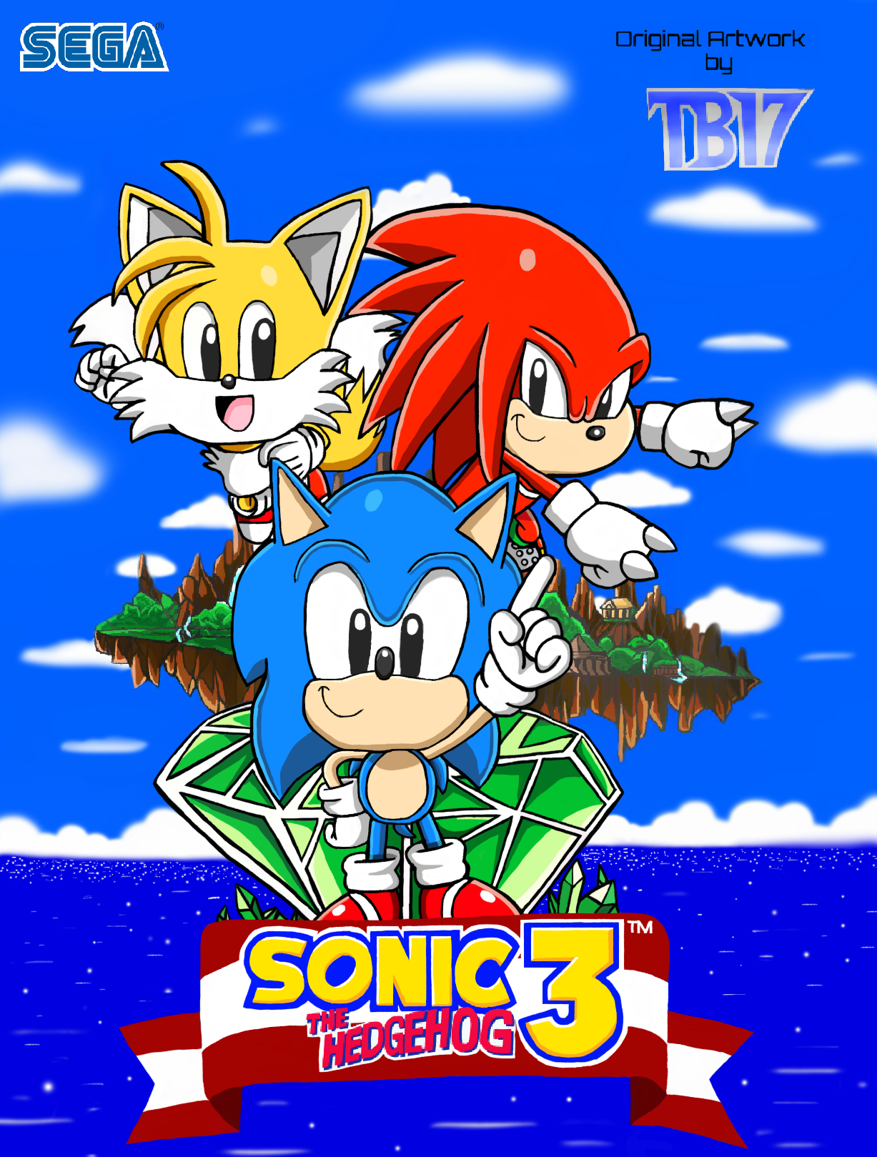 Sonic The Hedgehog 3 And Knuckles Artwork Color By Bluetyphoon17 On Deviantart