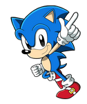 Classic Sonic the Hedgehog by BlueTyphoon17