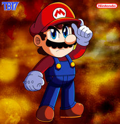 Mario Serious Face by BlueTyphoon17