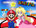 Mario and Peach THANK YOU FOR PLAYING THEIR GAME! by BlueTyphoon17