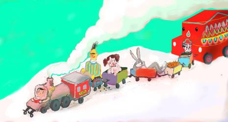 choo chooo tren by muymuy