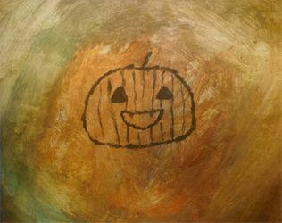 A old picture of a Pumpkin