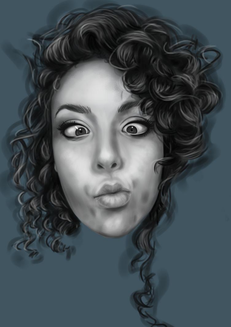 Self portrait by Aicsam