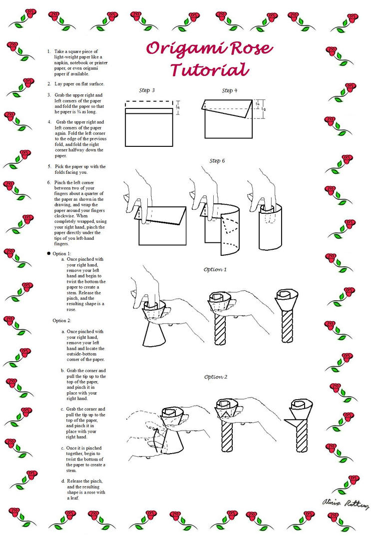 origami rose tutorial by bloodbendinggirl on deviantart