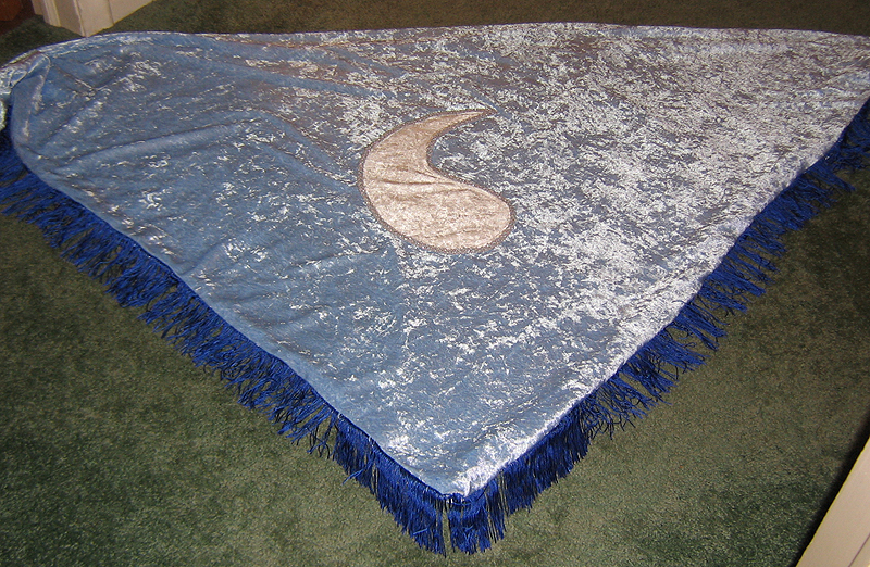 Blue Ajah Aes Sedai shawl