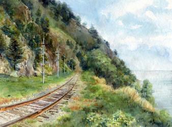 The Circum-Baikal Railway by chernotrav