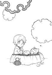 Inktober: Tea and tangerines by chernotrav