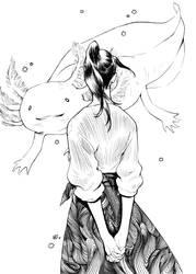 Inktober: Dareka-san by chernotrav