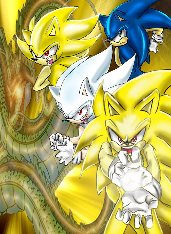Sonic All forms Kamehameha by Adir