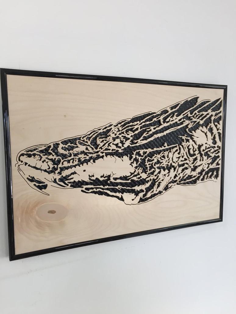 Wooden Smaug by PhoenixHBA