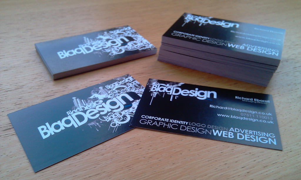 Printed Blaq Business Cards by blaqdesign