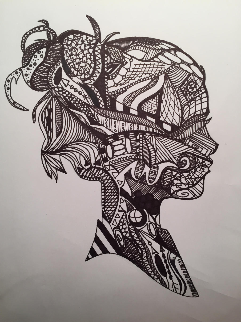 Silhouette Zentangle by Briarsong on DeviantArt
