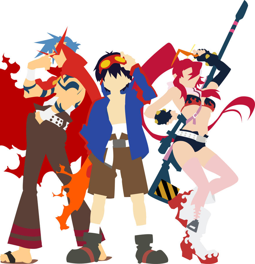 Kamina, Simon, Yoko by DuskHelena on DeviantArt