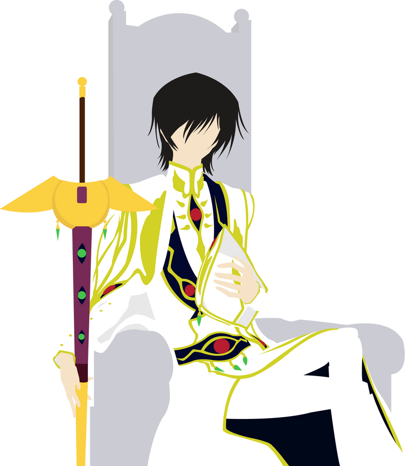 Emperor Lelouch on his Throne by DuskHelena