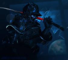 Blue Samurai by Starr-King