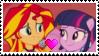 Sunset Shimmer x Twilight Sparkle Stamp