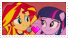 Sunset Shimmer x Twilight Sparkle Stamp by PrincessCandra