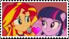 Sunset Shimmer x Twilight Sparkle Stamp by PrincessCandra