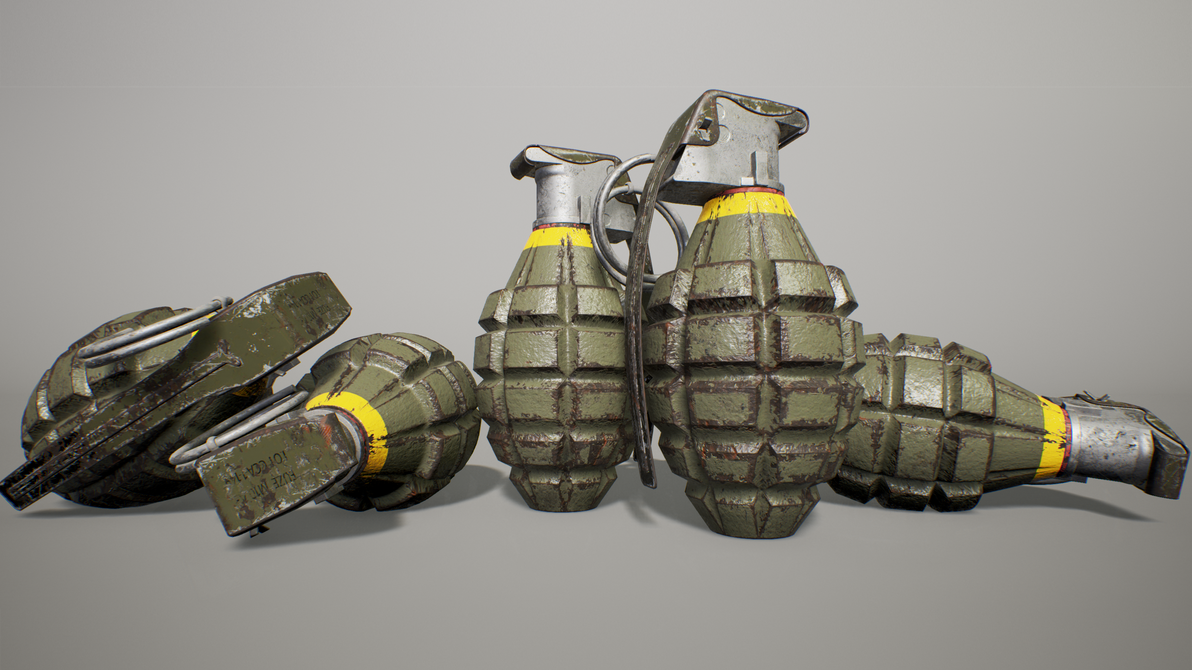 MK2 'Pineapple' grenade Unreal Render by FiretheROFLmissiles on
