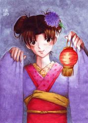 Tenten in kimono by Vestal-Spirit