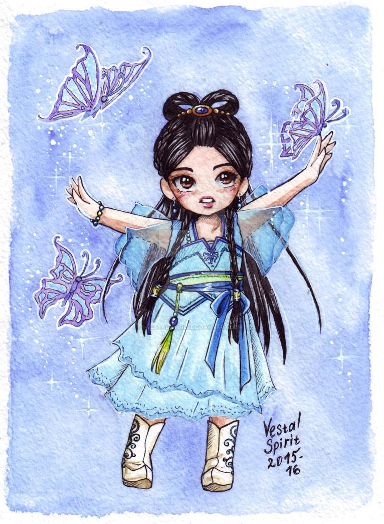 Gu Jian Qi Tan: Magic butterflies of Qingxue by Vestal-Spirit