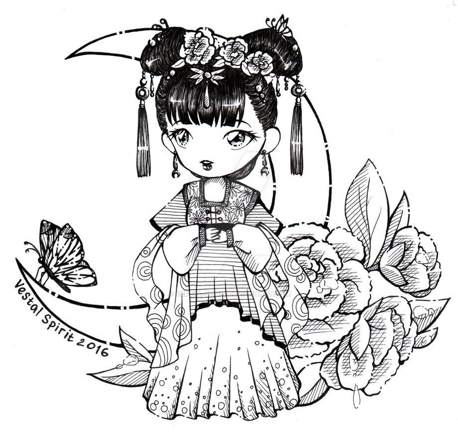 Feng Huang - chibi maid Xiao Yue by Vestal-Spirit