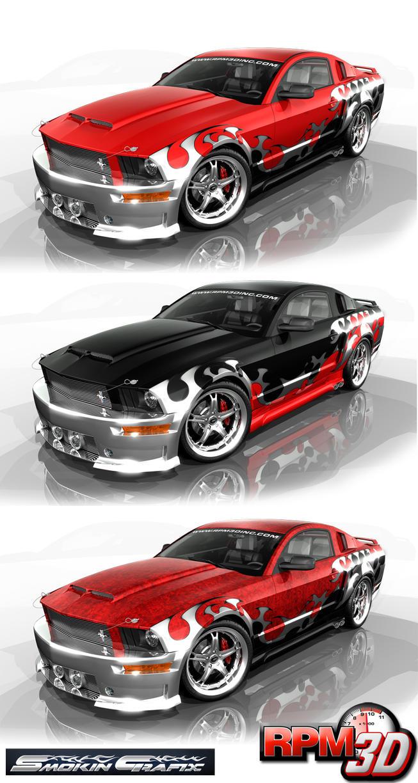 Nascar Mustang Blueprint