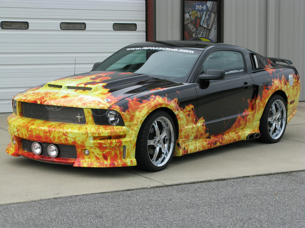 Mustang Flame Wrap By Nascar3d On Deviantart