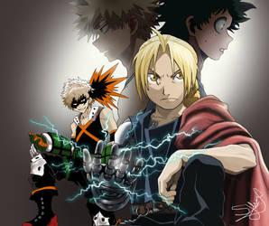 Full Metal Alchemist / My Hero Academia Anime Mix by Woozy-Woo