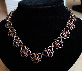 Champagne and Bronze Aura 3 Necklace - For Sale