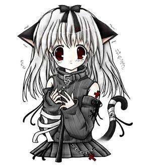 Cute Anime Kitty Girl