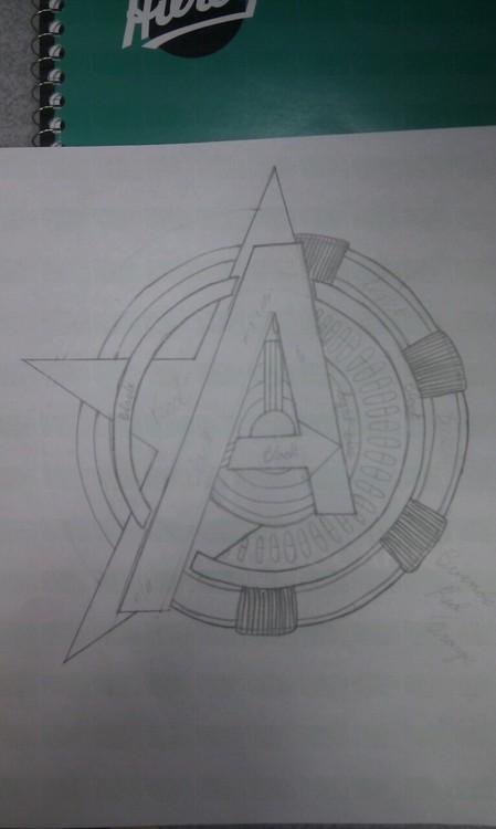 Avengers Logo Tattoo Designs - DesenhosParaColorir Site