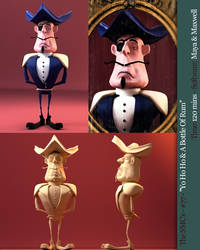 Speedmodelling piratecharacter by PositiveDope