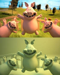 SpeedModelling Pigs From Shaun by PositiveDope