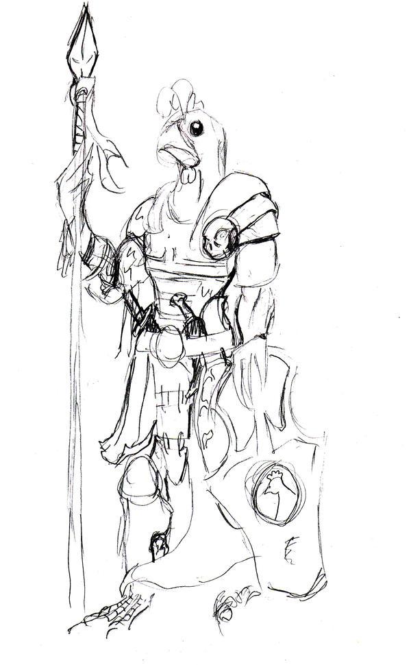 the chicken man sketch by chiknsdeviantart