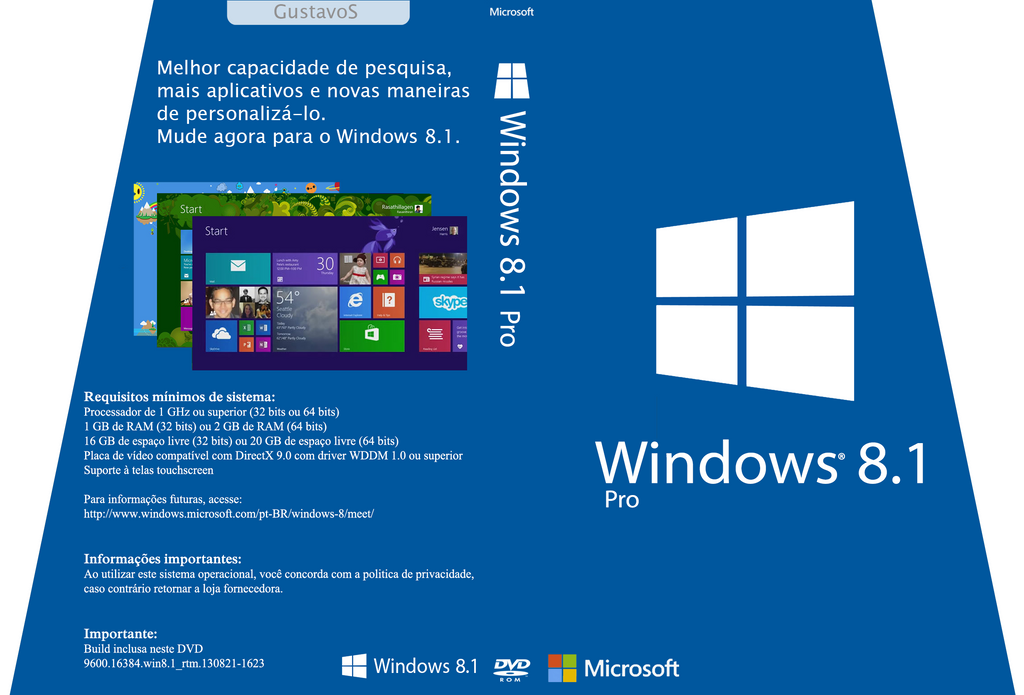 Cover Windows 8.1 Pro (PT-BR) by GustavoVS on DeviantArt