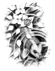 Koi Tattoo by l--TK--l