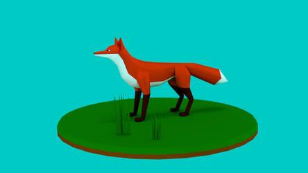 lowpoly fox by Mr-M818 by Mr-M818