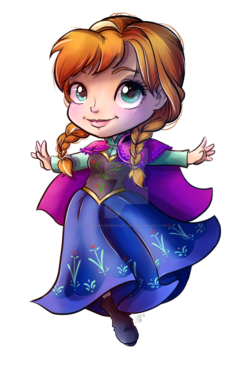 how to draw frozen anna