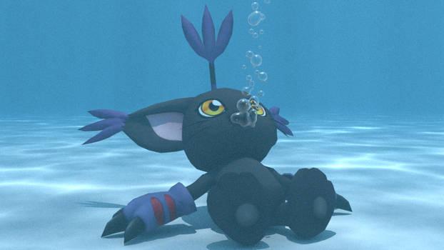 BlackGatomon underwater