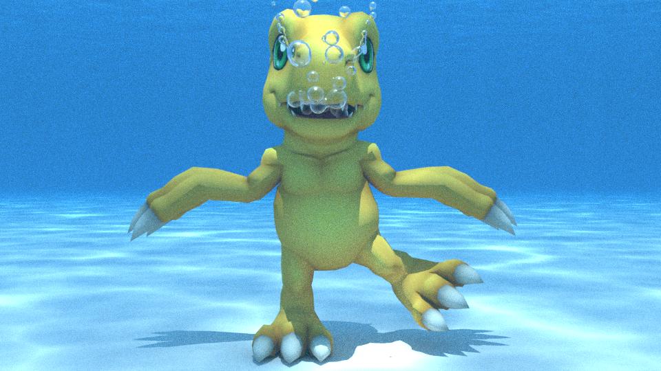 Agumon underwater by kuby64