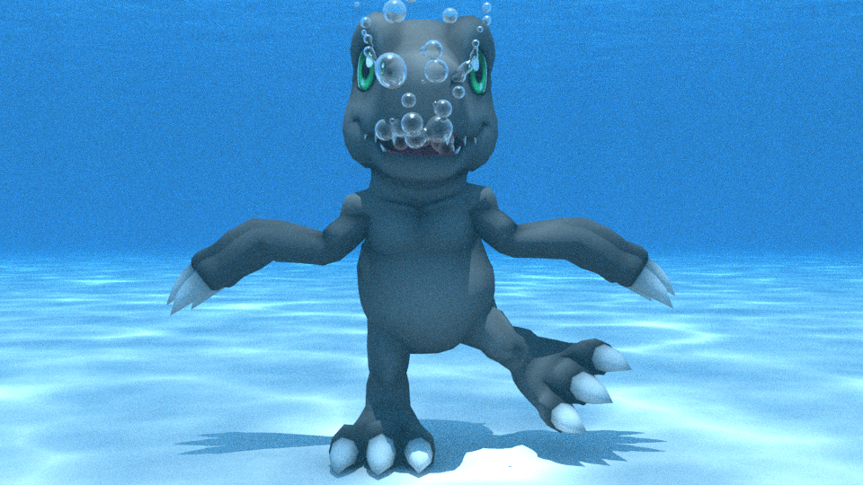 BlackAgumon underwater by kuby64