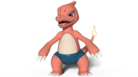 Charmeleon's swimming trunks by kuby64