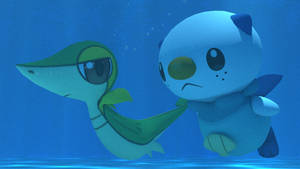 Snivy and Oshawott underwater by kuby64
