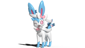 A shiny Sylveon that is actually shiny by kuby64