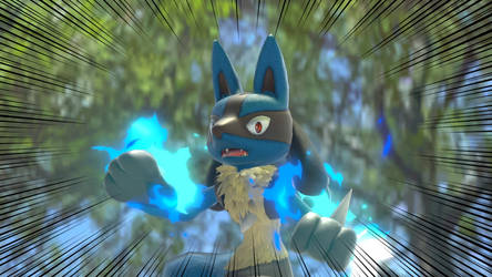 SSBUlt: Lucario in shock by kuby64