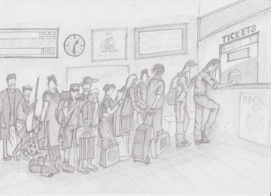 drawing ticket