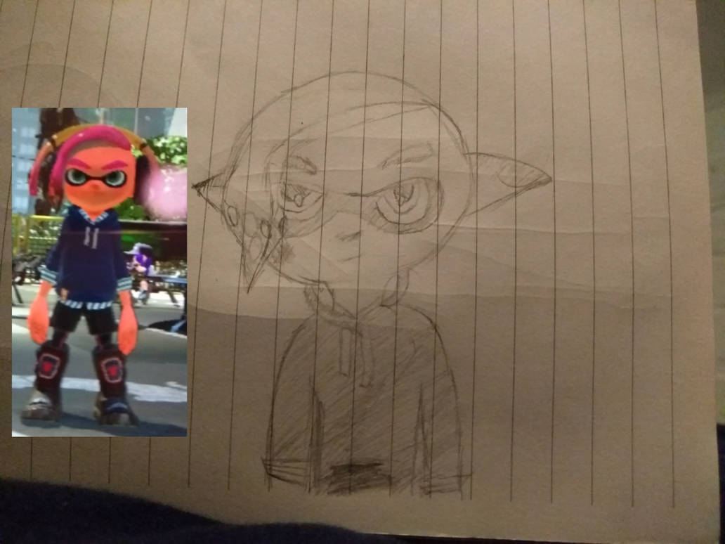 Just a normal, everyday, average Inkling drawing. by ArtificialGreninja