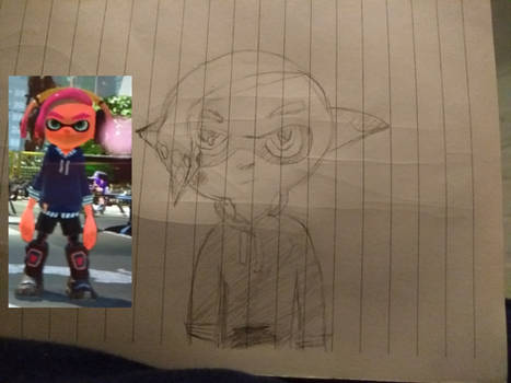 Just a normal, everyday, average Inkling drawing.