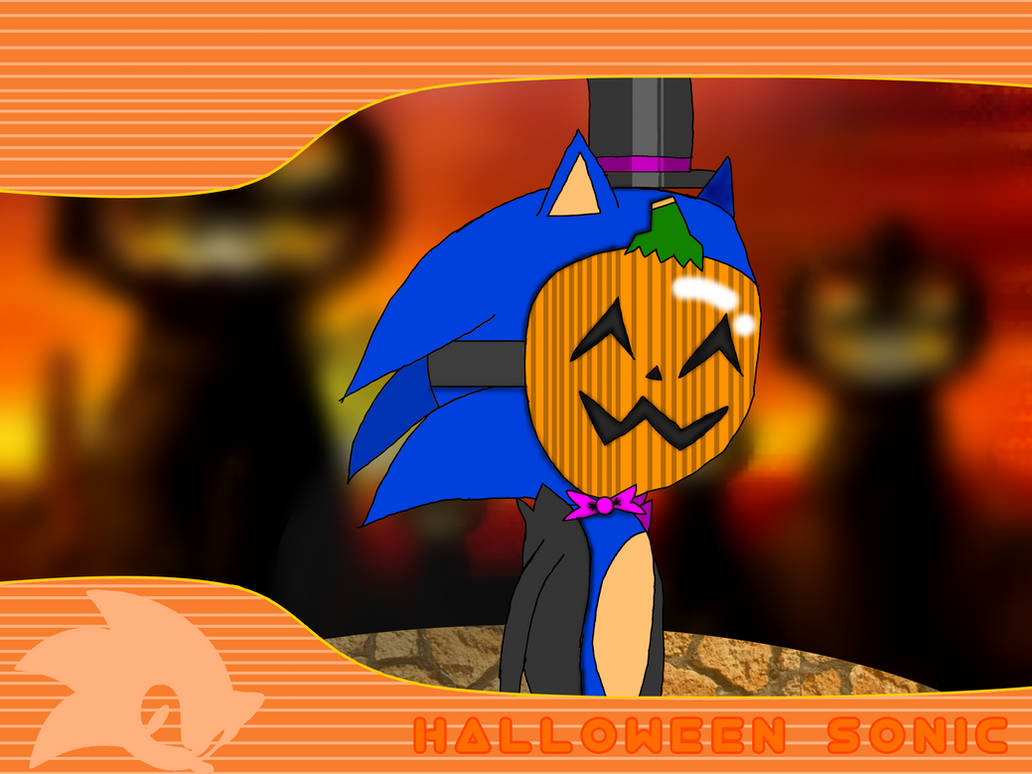 Halloween Sonic by ArtificialGreninja